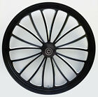 Manhattan Black Cut CNC 23 x 35 Front Single Disc Wheel for Harley
