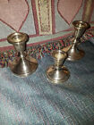 Vintage Sterling Silver Weighted Lot of 3 Candlesticks Empire Gift America