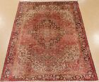 PERSIAN HERIZ Tribal Hand Knotted Wool SOFT ROSE Outstanding Oriental Rug 9 x 11
