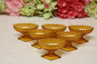 Antique Amber Glass Footed Place Salts 6
