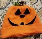 0-3 Months Orange Pumpkin Face Halloween Baby Cap Hat