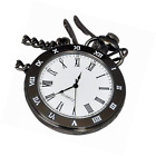 Generic Mens Analog Pocket Watch Open Face Color Black Case