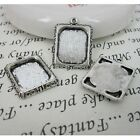 6pcs 20x17mm antiqued silver picture frame charm G459