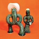 Anthropomorphic Western Cowboy Cactus Salt and Pepper Shakers Vintage Southwest
