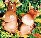 CUTE Norcrest Hippo Salt and Pepper Shakers Estate Vintage Anthropomorphic 1950s