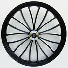 Manhattan Black Cut CNC 23 x 35 Front Dual Disc Wheel for Harley