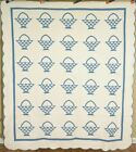 White Baskets Antique Quilt ~CLASSIC DESIGN!