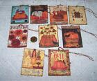 Thanksgiving~Fall~Autumn~Primitive~Linen Cardstock~Gift~Hang~Tags