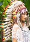 CLEARANCE PRICE Long Native American Indian Style Headdress w Tomahawk