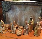Vintage FRIEDEL 11 Piece Plastic Nativity Set Made in Germany