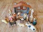Nativity Scene Figurines 18 piece Christmas Antique Vintage 1930s