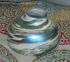 Hand Blown Art Glass Bowl - Pot - Vase - Signed and Dated 97