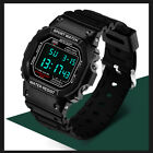 SANDA Mens Sports Waterproof LED Digital Stopwatch Alarm Military Wrist Watch US