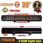 44 Inch Dual Row Osram Led Work Light Bar Spot Flood Combo 45 36 30 28 20 15 In