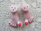 VINTAGE FANCY FEET RED TOE NAILS PEDICURE SALT PEPPER SHAKERS FAIRWAY JAPAN