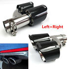 2PCS Left + Right Side Carbon Fiber Exhaust Muffler Tip 63mm 98mm Out Tail Pipe