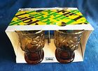 Vintage 1970s Libbey Country Garden Amber Juice Glass 4 pc Set Unused w BOX EXC