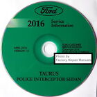 2016 Ford Taurus, Police Interceptor Sedan Service Manual Original Shop Repair