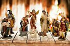 Christmas Nativity Set Scene Figures Polyresin Figurines Baby Jesus 11 PIECE SET