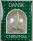 Vintage Dansk Christmas Ornament Opalescent Glass Ball w Box