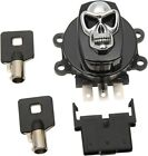 Drag Specialties Skull Side Hinge Ignition Switch Gloss Black 174666