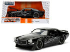 1971 Chevrolet Camaro SS Black with Flames 1 24 Diecast Model Car by Jada