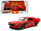 1971 Chevrolet Camaro SS Red with Flames 1 24 Diecast Model Car by Jada