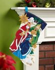 Bucilla 3 KINGS HOLY NATIVITY RARE Felt Christmas Stocking Kit FDDiscontinued