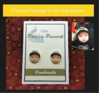 Custom Portrait Earrings from your Photo Great Gift Idea Any Occasion Birthday