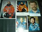 5x Photo all origsigned Shuttle Astronauts SPACE