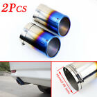 Vehicle Parts 3 76mm Caliber Rear Exhaust Tailpipe Tail Muffler Pipe Tips Cover