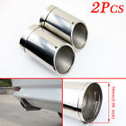 3 76mm Inlet Exhaust Pipe For Auto Accessories Rear Muffler End Tail Tip Cover