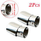 2X Universal 35 88mm Inlet Rear Silencer Tail Pipe Exhaust End Tip Cover Parts