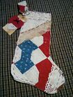 vintage Lace /old Quilt Stocking/heart Tag