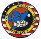 Apollo 1 Lapel Pin Official Nasa Edition Space Program White Grissom Chaffee
