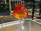 Stars Candle Fairy Lamp Amberina Shade Clear Pedestal Base