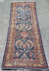 4 of 8 Vintage Persian Low Pile Rug Runner Estate Downsizing 4x10 No Reserve