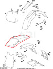 NEW OEM KTM 125 EXC 125EXC REAR FENDER FAIRING