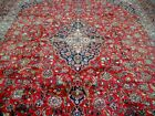 10X13 1940's EXQUISITE AUTHENTIC ANTIQUE HAND KNOTTED WOOL FERDOWS PERSIAN RUG