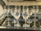 4 Gorham Lady Anne Crystal Wine glasses and 4 Lady Anne Water Goblets