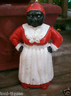 Vtg Antique Black Americana Art Aunt Jemimah Cast Iron Mammy Primitive Door Stop