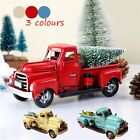 Christmas Vintage Red Blue Beige Metal Truck Ornament Kids Xmas Gifts Toy Decor