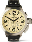TW Steel TW3 Men's Canteen Chronograph 50mm Cream Dial Leather Watch