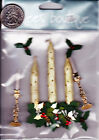 Jolees Boutique Sticker Collage CHRISTMAS CANDLES Holly Holiday Sticks NIP
