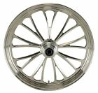 Polished Manhattan CNC 21 x 35 Single Disc Front Wheel for Harley