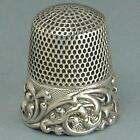 Antique Louis XV Band Sterling Silver Thimble by KMD  * Circa 1890s