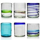 Tumbler Hand Blown from Recycled Glass Ethically Sourced Mexico Glassware