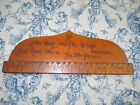 1911 Mens Tie-Rack Flemish Artwork Hand Made RARE Fashion Antique Wallhanger