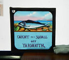 Victorian Glass magic lantern slide Caught in A squall off Yarmouth   hu2