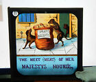 Victorian Glass Magic Lantern Slide humour The Meet of Her Majestys hounds.